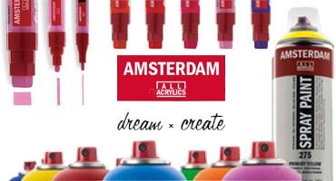 Akrylové barvy AMSTERDAM i jako spreje a markery