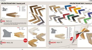 Katalog dřevěných rámovacích profilů pro rok 2018