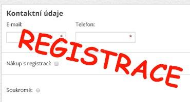 Registrace na webu