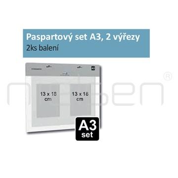 Paspartový set A3 pro DISPLAY-IT, 2 výřezy (2ks)