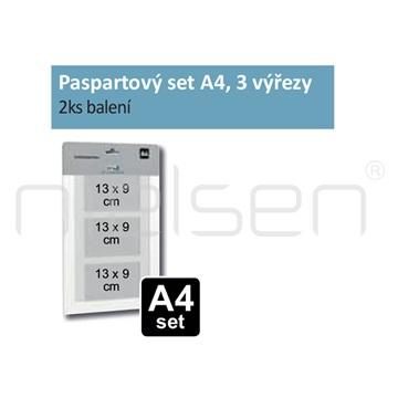 Paspartový set A4 pro DISPLAY-IT, 3 výřezy (2ks)