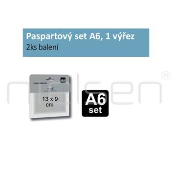 Paspartový set A6 pro DISPLAY-IT, 1 výřez (2ks)