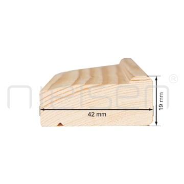 4,3 - 125 cm obvodová lišta klínového rámu