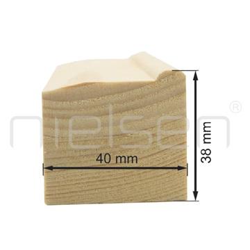 4x4 - 030 cm obvodová lišta klínového rámu