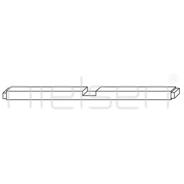 4x4 - 050 cm spojovací lišta klínového rámu