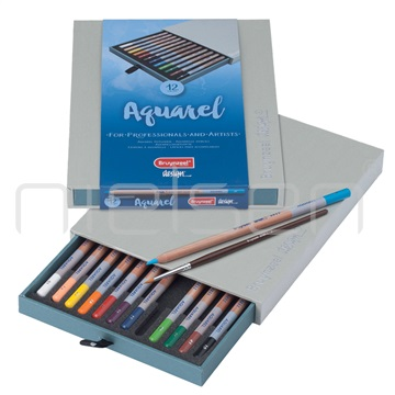 akvarel.pastelky BRUYNZEEL DESIGN Aquarel-set 12ks