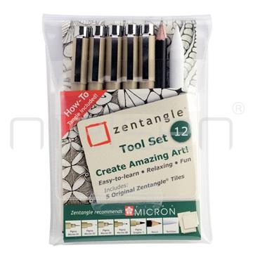 ZENTANGLE set 12: Markery+karty 12 kusů