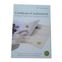 Certifikační papír s ochr.prvky - hologram